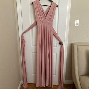 Convertible Blush Pink Maxi Dress